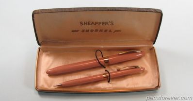 SNORKEL ADMIRAL SET FOUNTAIN PEN AND PENCIL IN TAN - MINT
