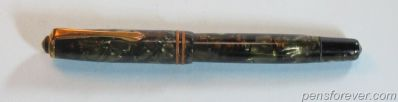 Montblanc Fountain Pen #244 - Green Marbled