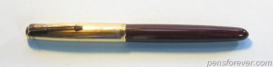 PARKER 51 vacumatic MARROM tampa DOURADA- blue diamond
