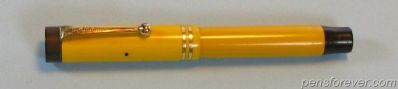 PARKER DUOFOLD JUNIOR YELLOW MANDARIN - FLAT TOP 2 aneis
