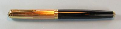 PARKER 51 EMPIRE STATE VACUMATIC  SOLID GOLD CAP- VERY RARE