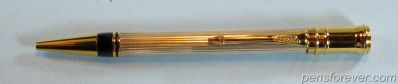 PARKER BALLPEN DUOFOLD CENTENNIAL Flat Top - 2nd. Model - WHITE METAL