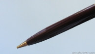 MECHANICAL PENCIL PARKER 51 VACUMATIC IN BROWN - GOLD FILLED WAVE CAP - FIRST EDITION