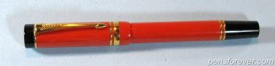 PARKER DUOFOLD INTERNATIONAL - FLAT TOP - LARANJA - EXTRA BROAD STUB