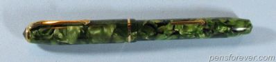 CONWAY STEWART #28 IN GREEN MARBLE