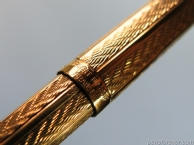 BALLPOINT PARKER 75 VERMEIL  FOUGERE - FRENCH MADE - MINT