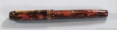 MONTEGRAPPA SENIOR BRONZE/ BURGUNDY WITH WHITE VEINS - RARE