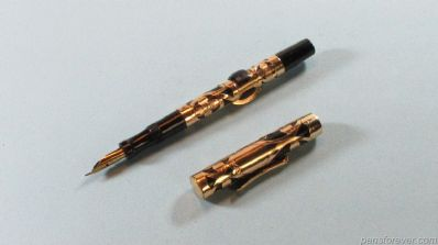 CONKLIN CRESCENT FILLER GOLD FILLED FILLIGREE - LONGA