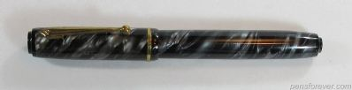 SAFFORD PEN (PARKER) FIFTH AVENUE - CINZA TWISTED PEARL - CLIP BOLA
