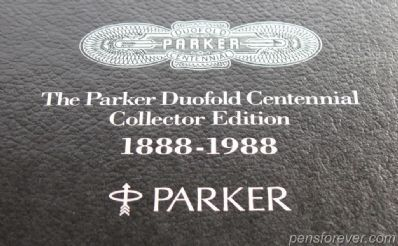 PARKER DUOFOLD CENTENNIAL - COLLECTOR EDITION - BLUE