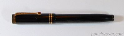 PARKER DUOFOLD SPECIAL PRETA FLAT TOP - 2 ANEIS