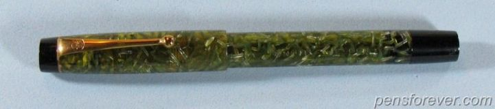 ONOTO DE LA RUE THE PEN 5600 SELF FILLING PEN IN GREEN TRANSPARENT CELLULOID