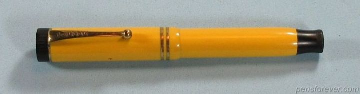 PARKER DUOFOLD JUNIOR  YELLOW MANDARIN - RARE YELLOW THREADS